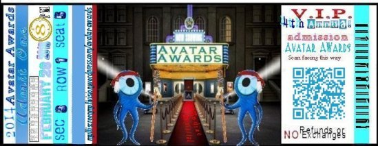 1 Avatar Awards ticket 2014