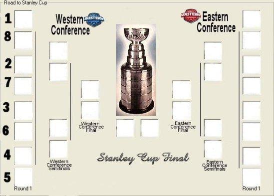 NHL playoffTree Blank